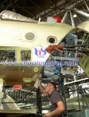 俄罗斯苏30SM战机总装线
